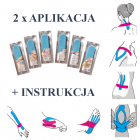 2x GOTOWY KINESIOLOGY TAPE - zestaw aplikacji - PLASTRY + INSTRUKCJA (ortgot2)