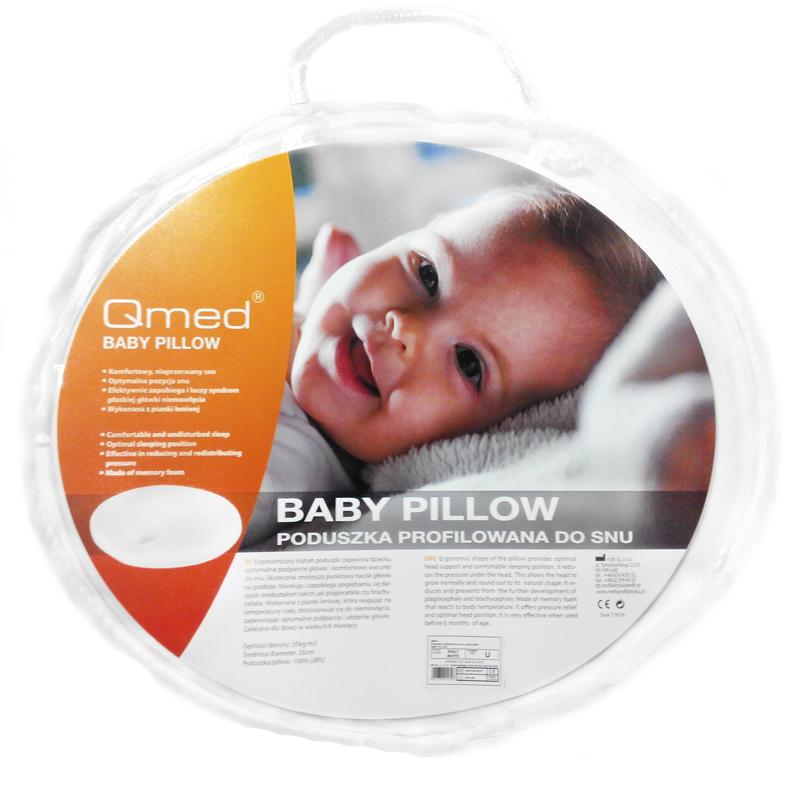 c7ca17740fd0aa Medyczna poduszka dla niemowląt - profilowana - ergonomiczna Qmed (baby  pillow)